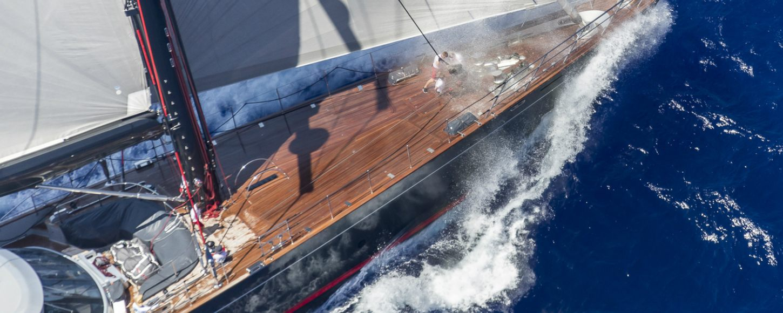 S/Y Seahawk racing during 2015 regatta in the BVI