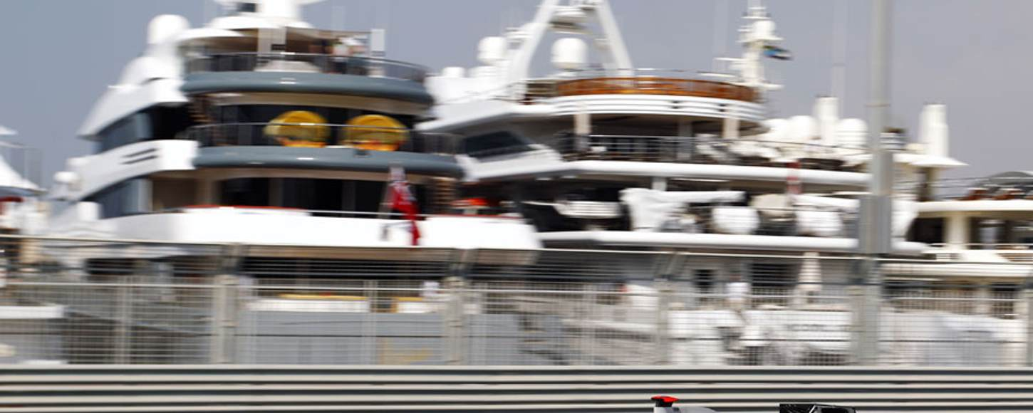 Charter guests on yachts watching F1 Abu Dhabi Grand Prix