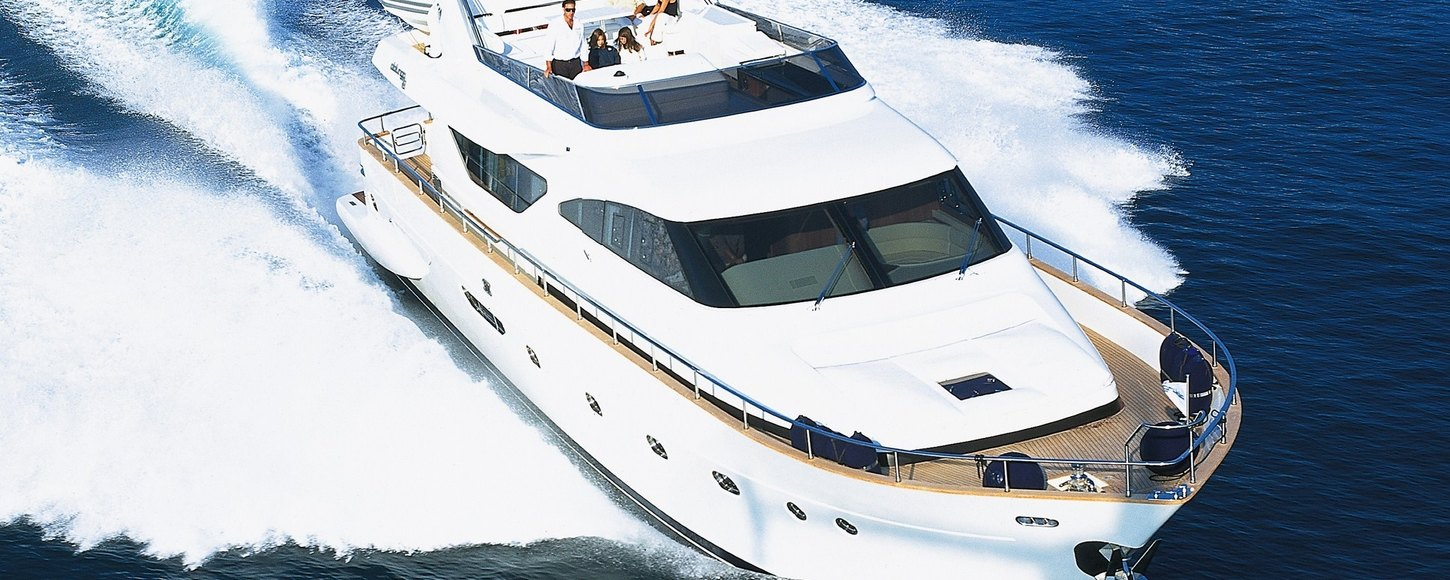 Charter yacht Riviera cruising in the Mediterranean