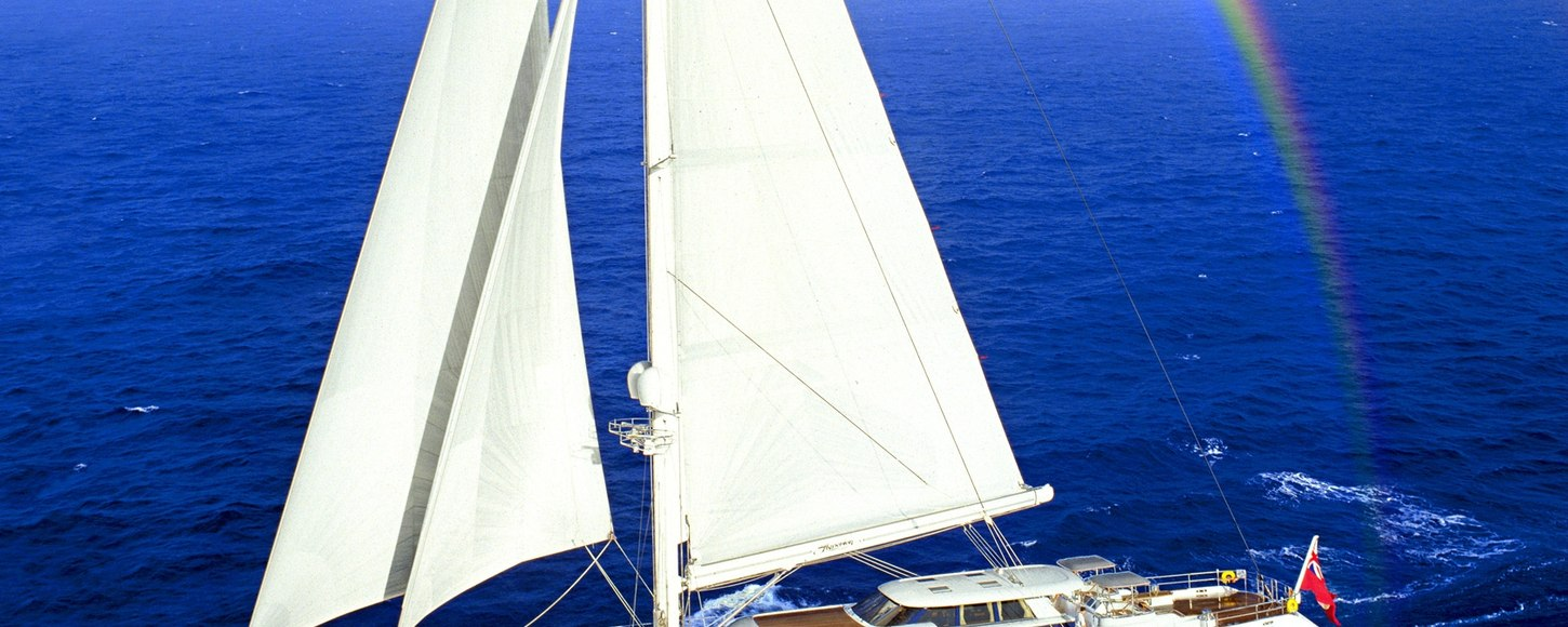 Charter yacht Hyperion sailing in the Caribbean
