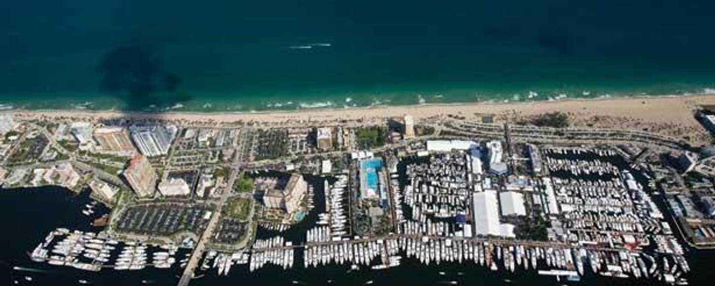 Aerial Shot of Fort Lauderdale Boat Show