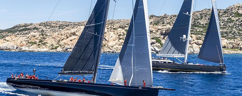 Sailing yachts underway