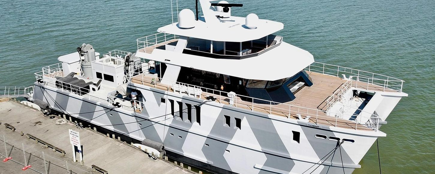 Superyacht The Beast on the water