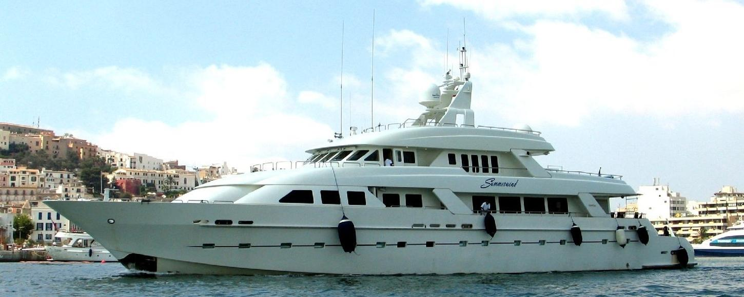 Superyacht Island Heiress cruising on charter in the Bahamas