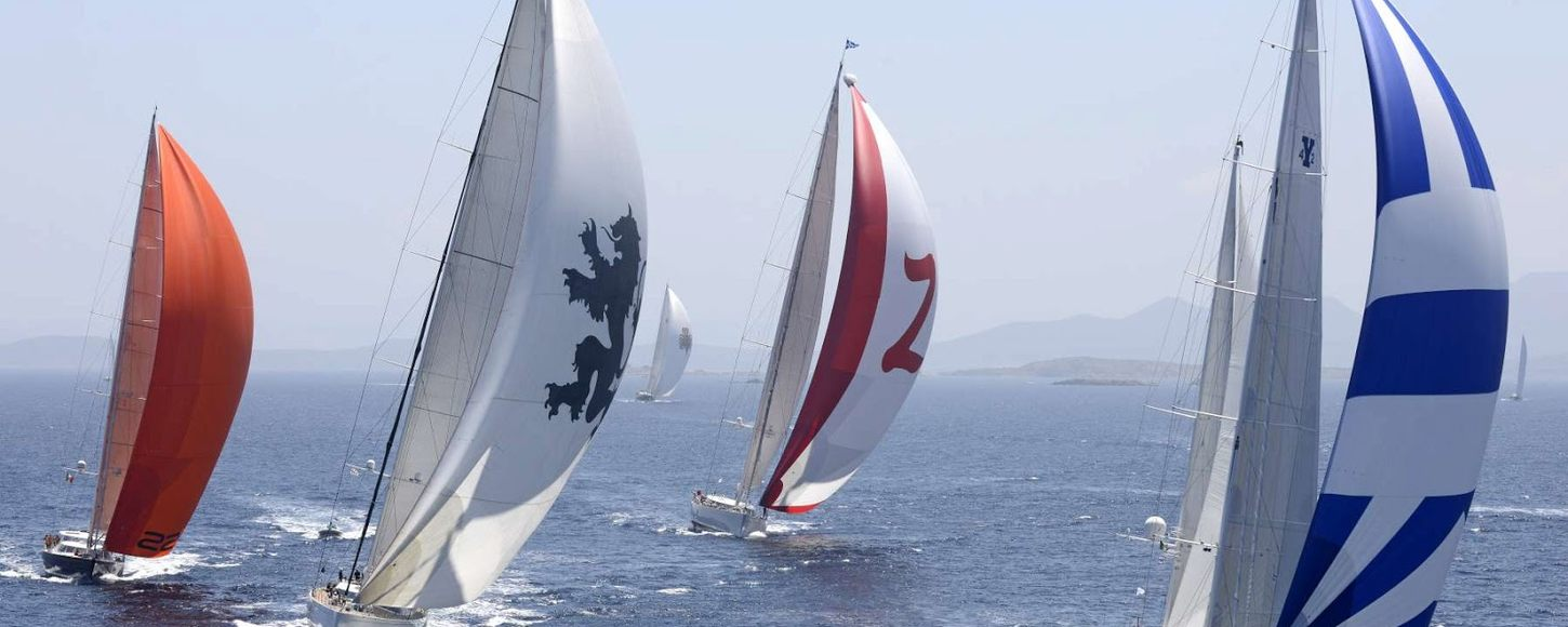 Charter yacht Genevieve leads the regatta in the Dubois Cup