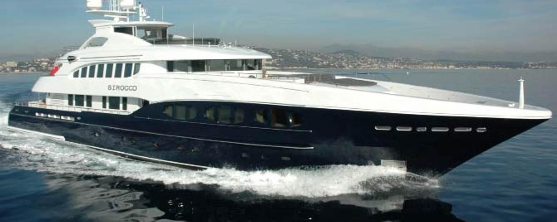 Luxury charter yacht Sirocco cruising in the West Mediterranean
