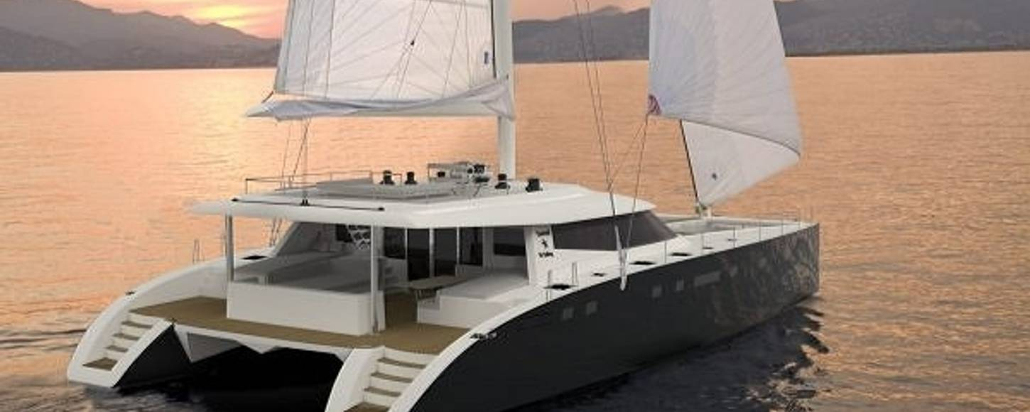 Charter yacht Levante at anchor in the Mediterranean