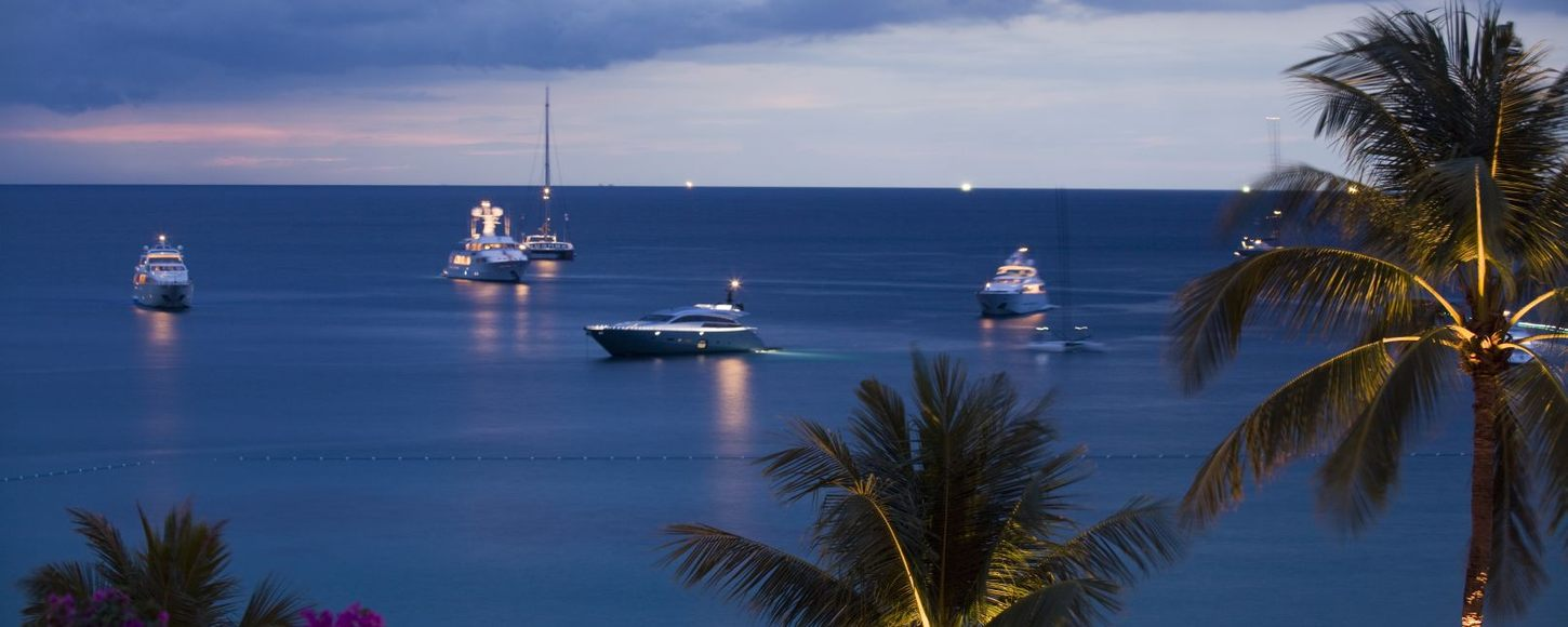 Charter yachts in the harbour for the Asia Superyacht Rendezvous