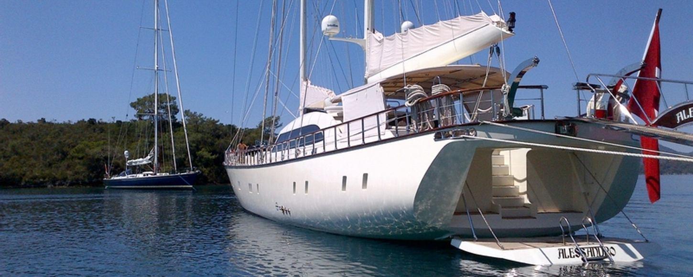 Sailing charter yacht Alessandro at anchor