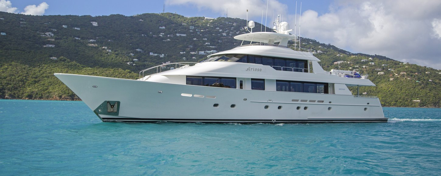 charter yacht ARIOSO cruising on charter in St Lucia
