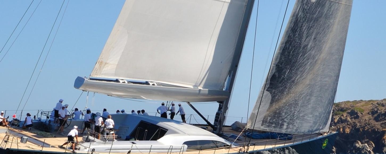 Perini Navi yacht racing at Perini Navi Cup