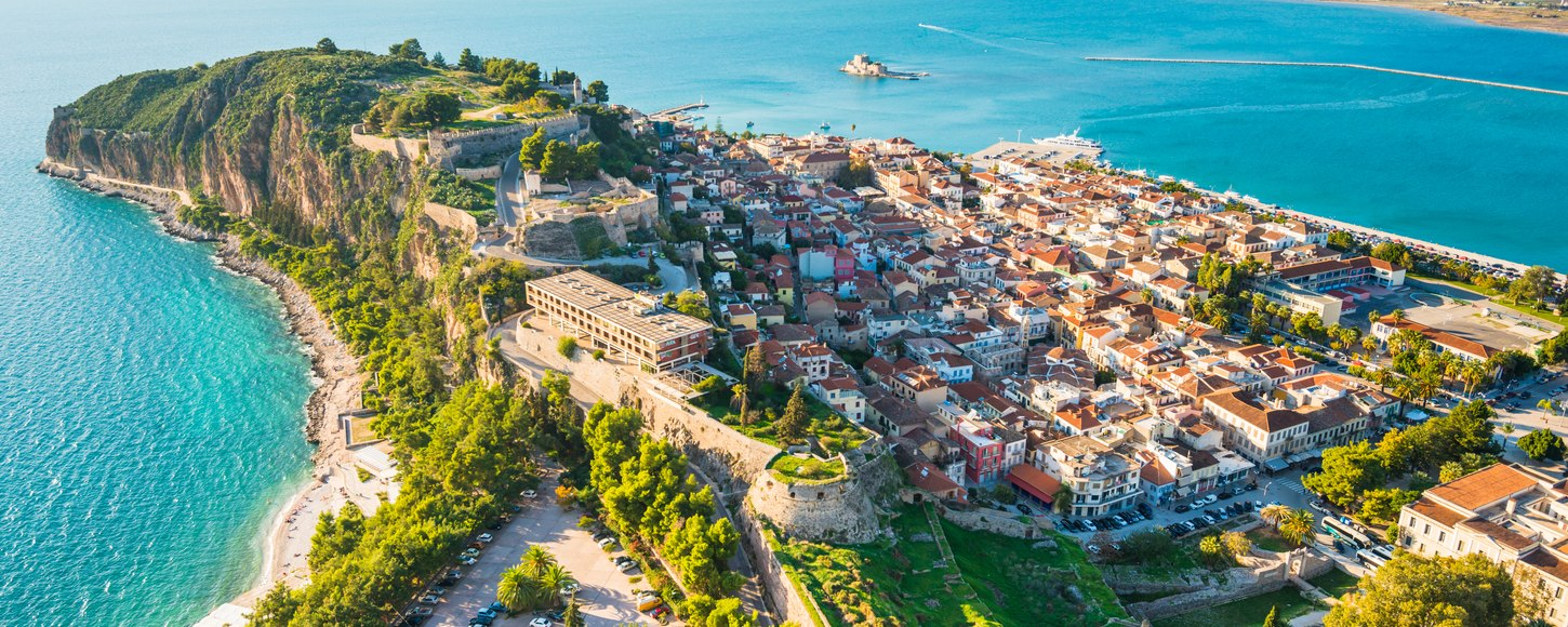 View of port Nafplion in Greece