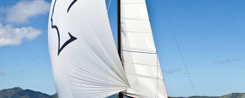 Nefertiti sailing in the Caribbean