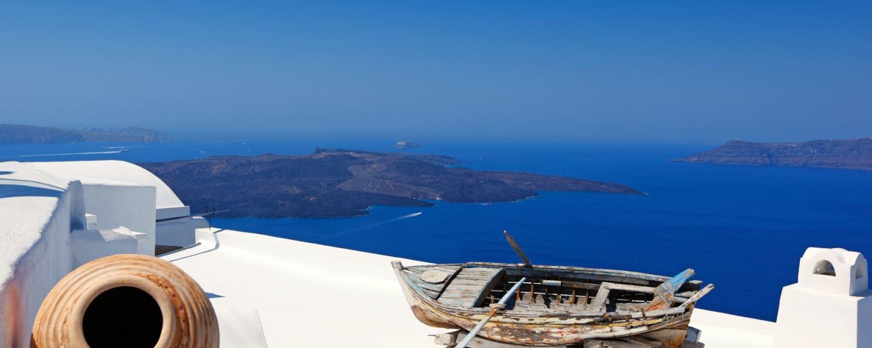 View from Greek Island of Santorini