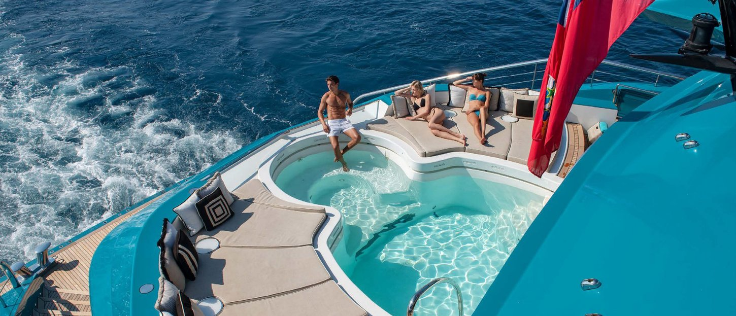11 Best Charter Yacht Swimming Pools