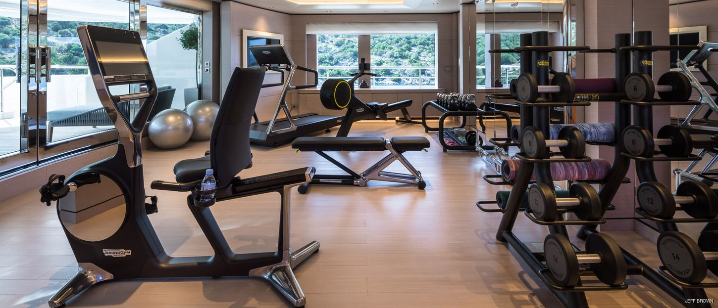 Charter Yachts with Incredible Onboard Gyms
