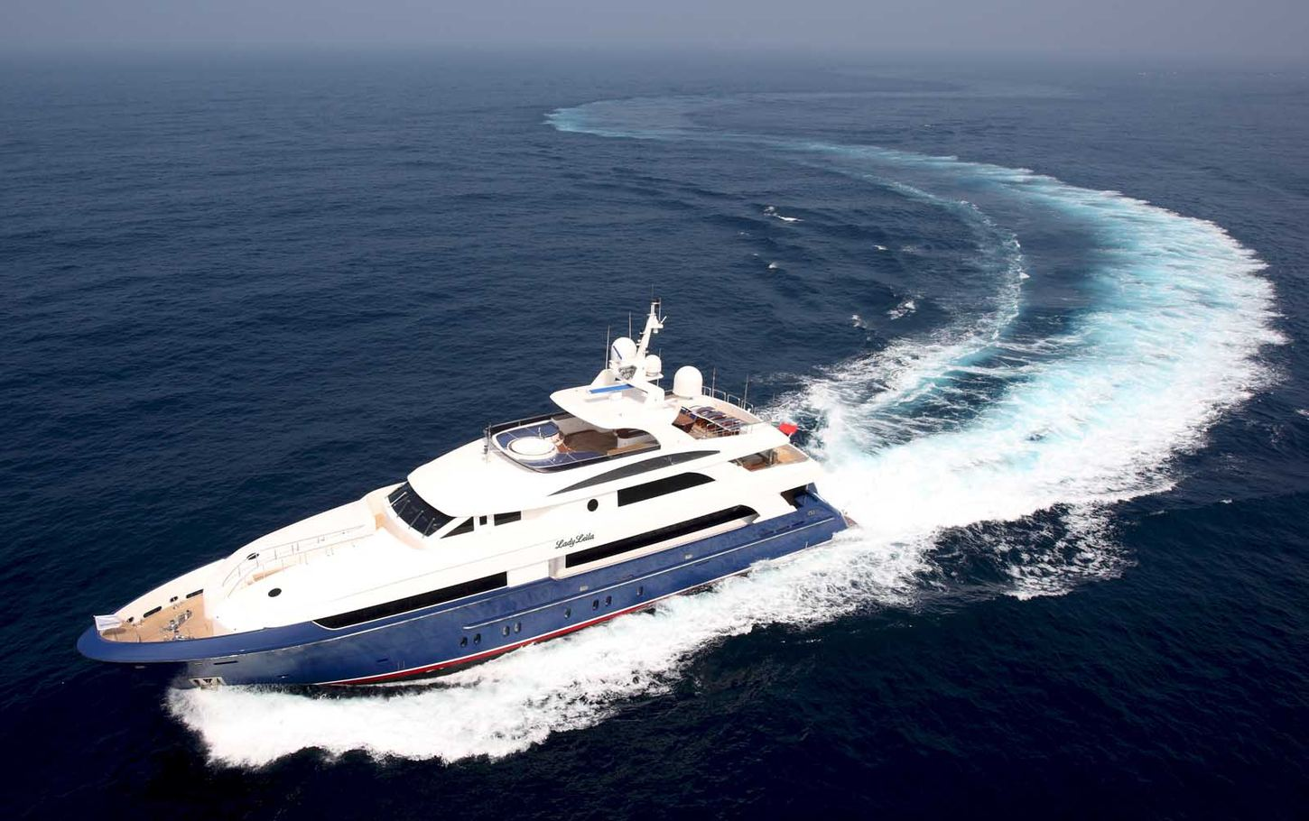 charter yacht Lady Leila underway on a Caribbean yachting vacation