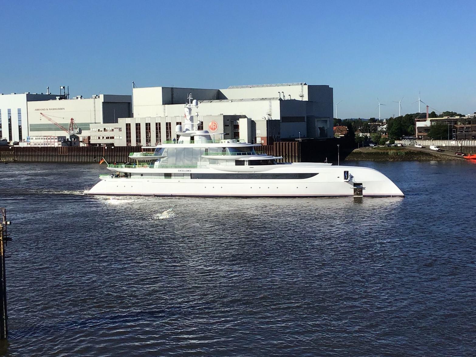 EXCELLENCE superyacht underway