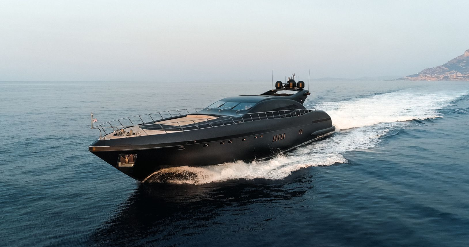 Charter yacht NEOPRENE moving at speed