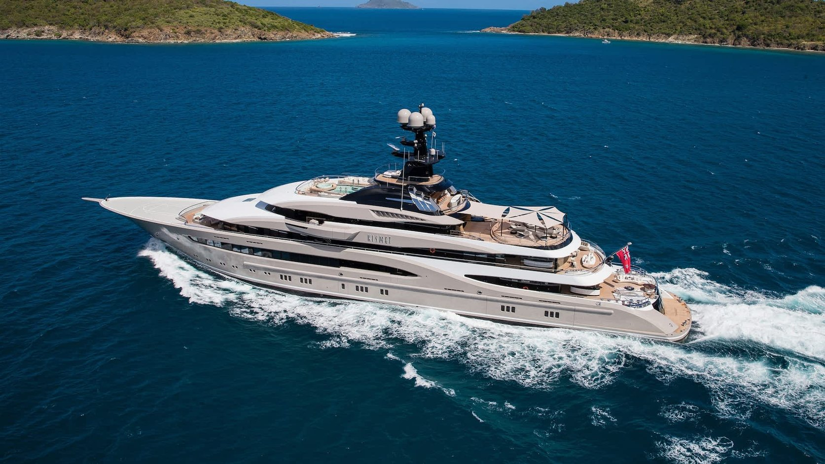 superyacht KISMET underway during a private yacht charter