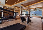charter yacht interior designed by
