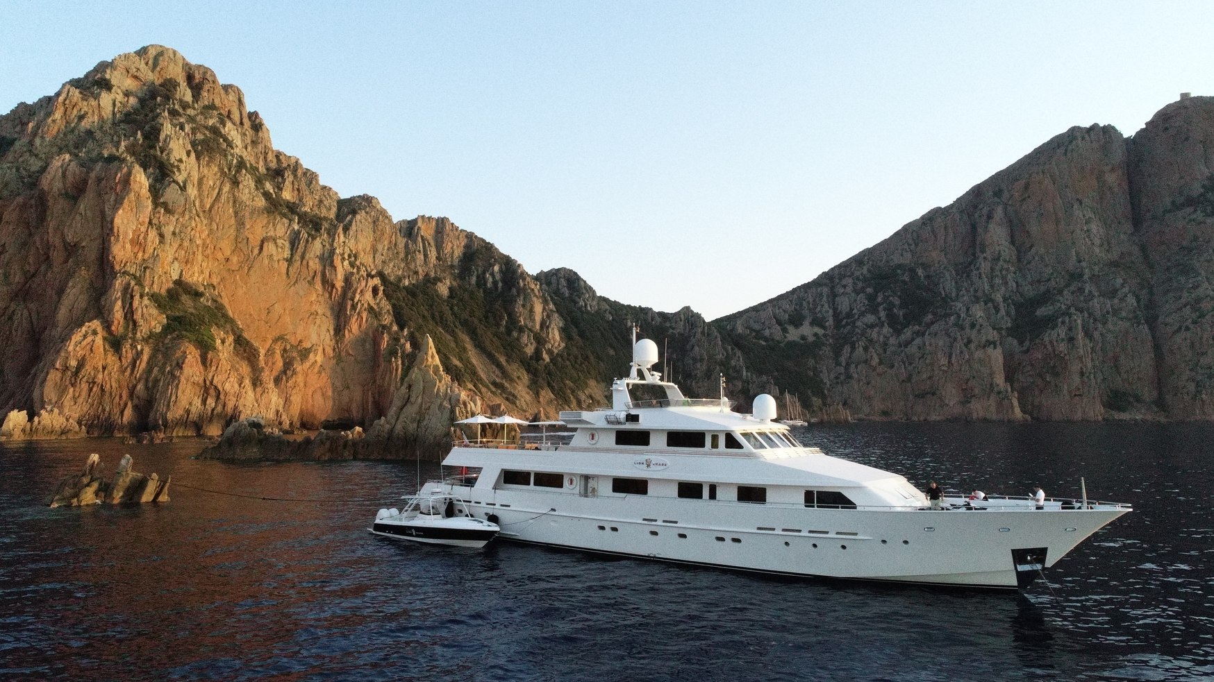 Superyacht LIONSHARE on water