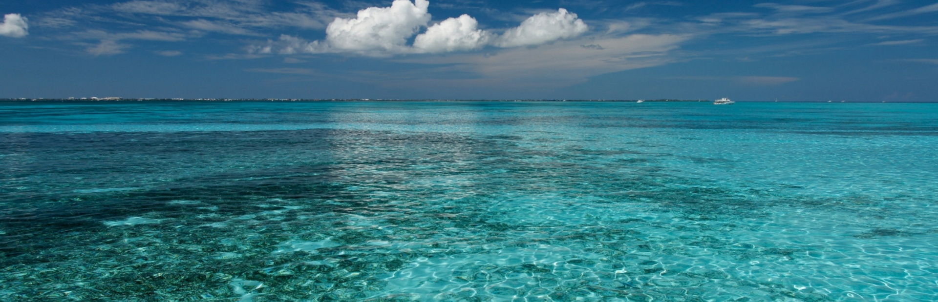 Crystal clear blue water in the sea