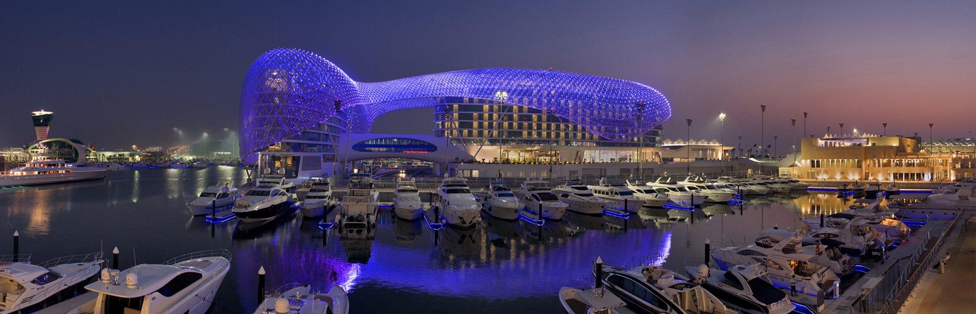 Yas Hotel in Yas Marina Abu Dhabi