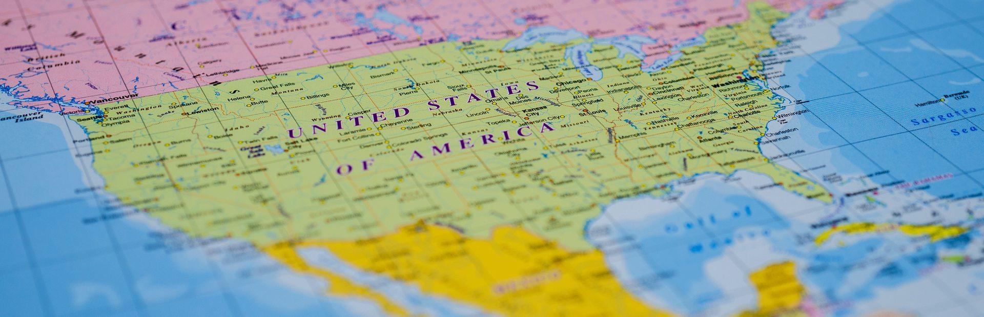 North America interactive map