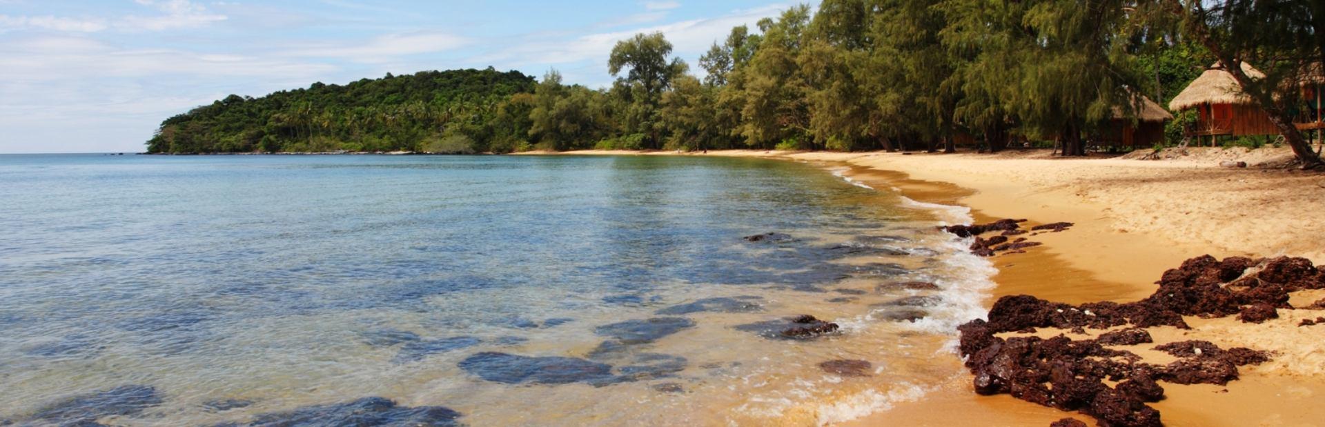 Tranquil, natural beach