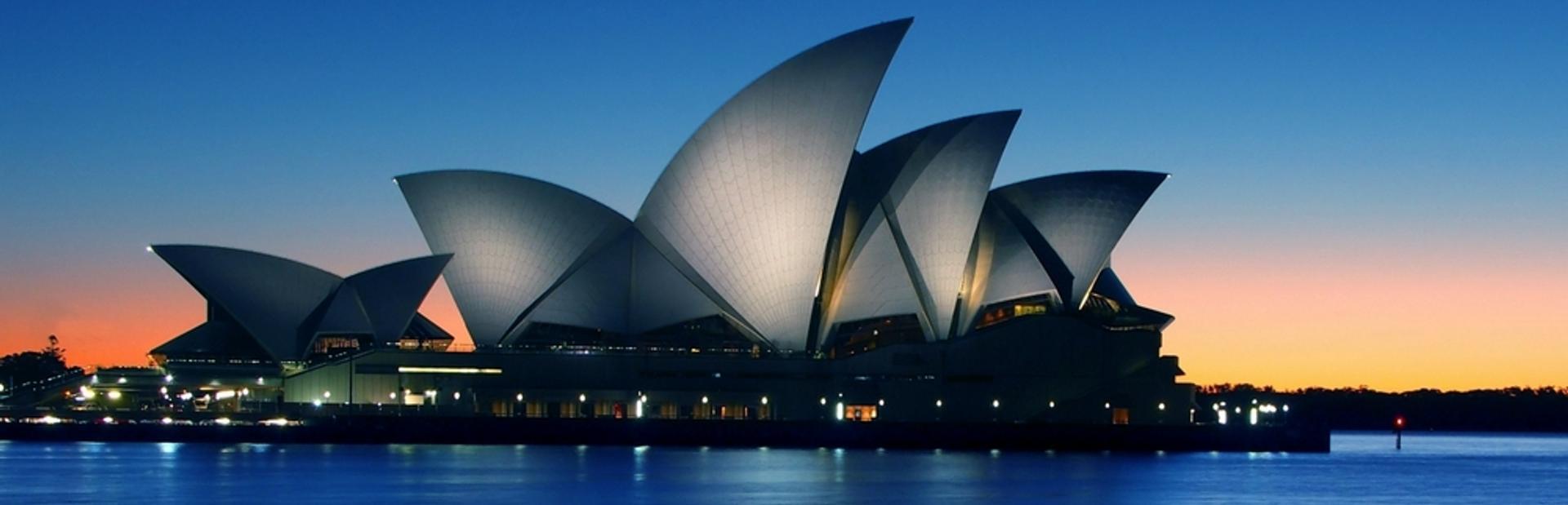 The Sydney Opera House at night