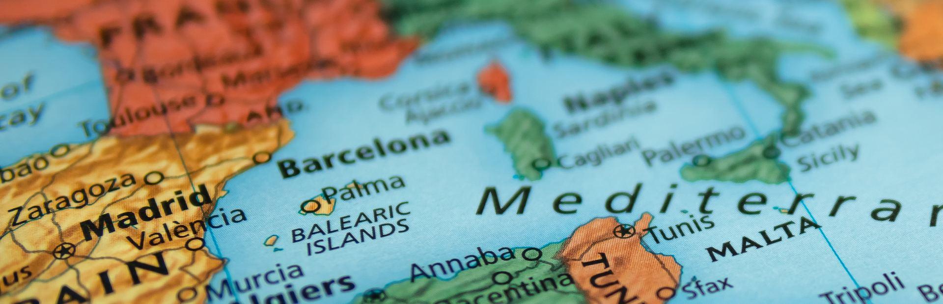 West Mediterranean interactive map