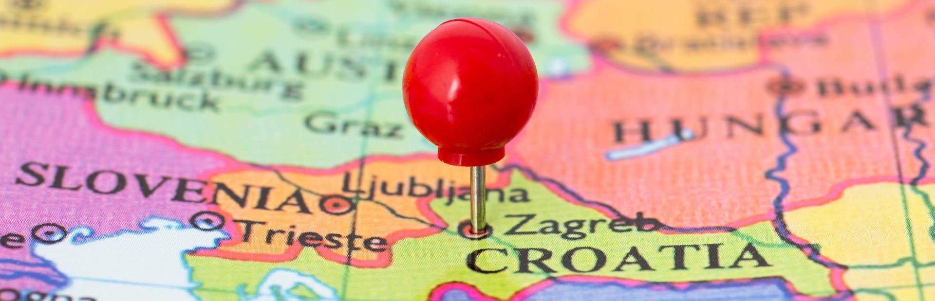 Croatia interactive map