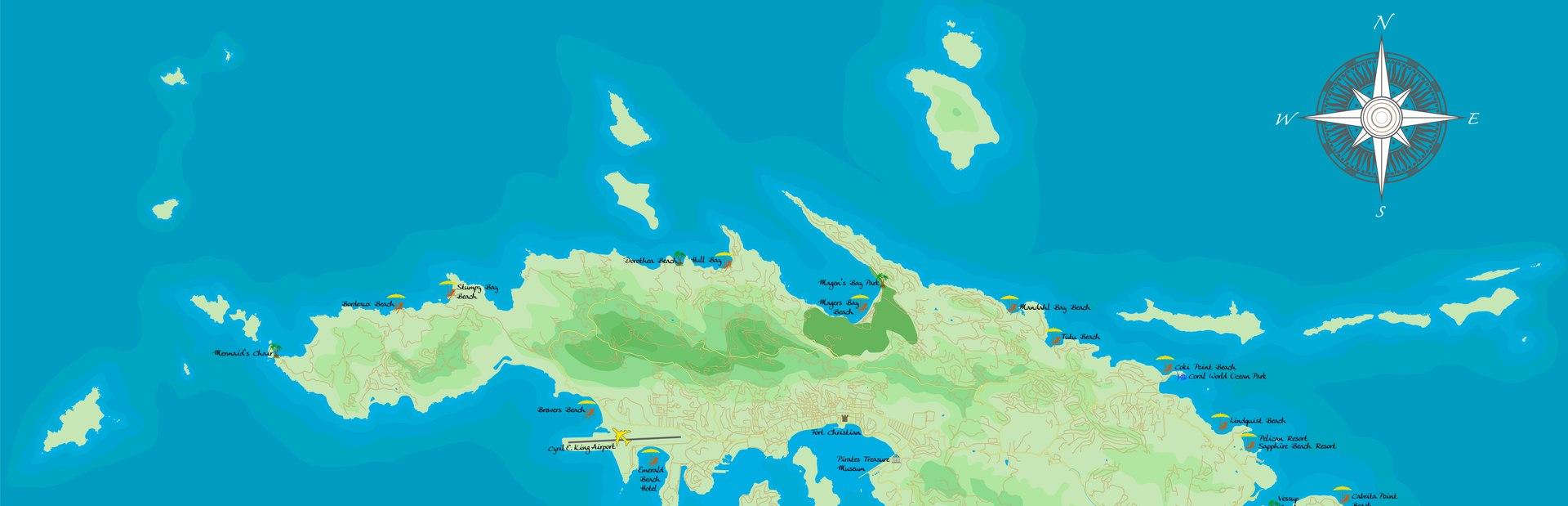 US Virgin Islands interactive map