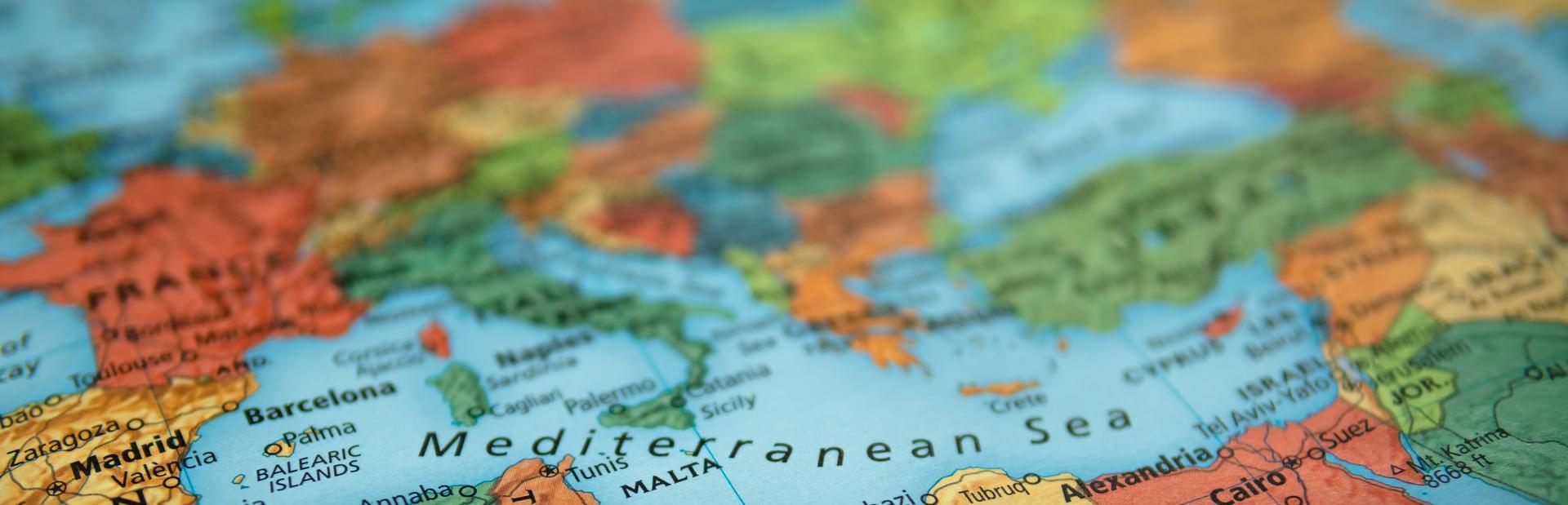Mediterranean interactive map