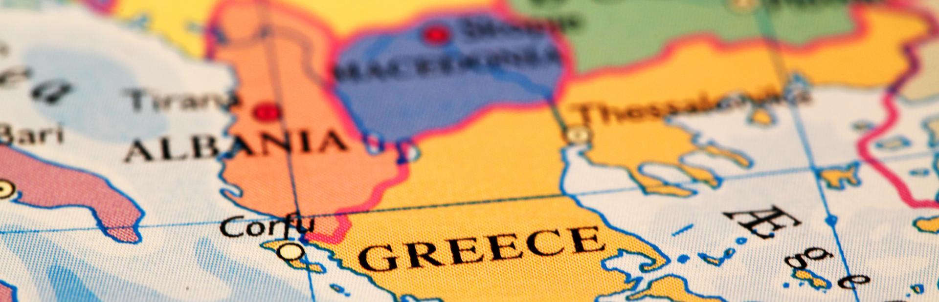 Greece interactive map