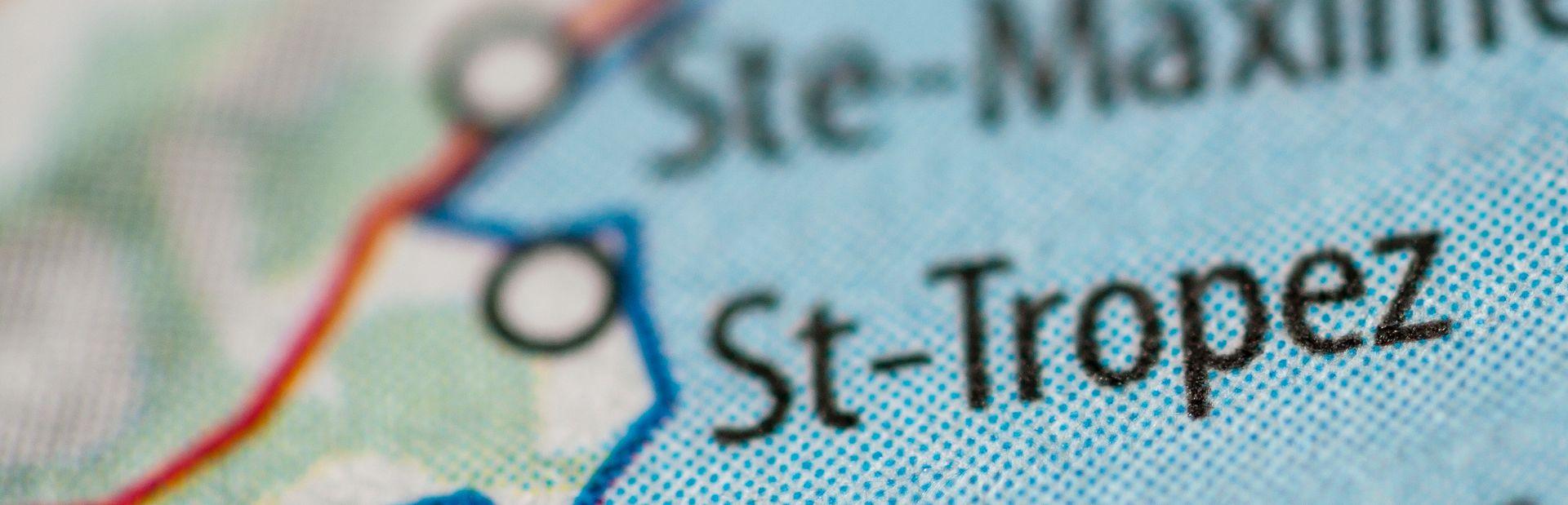 St Tropez interactive map