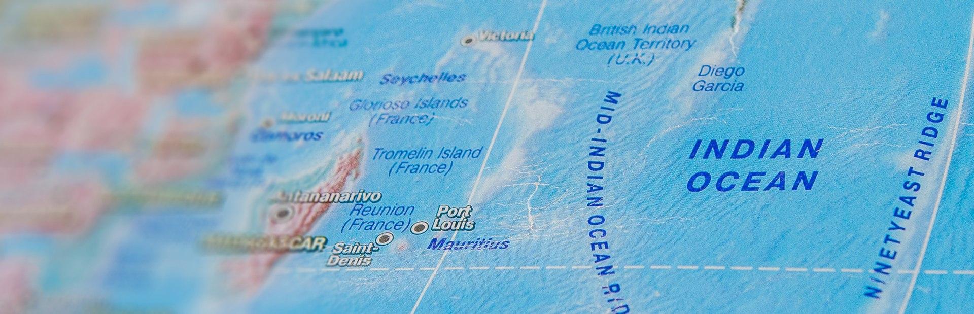 Indian Ocean interactive map