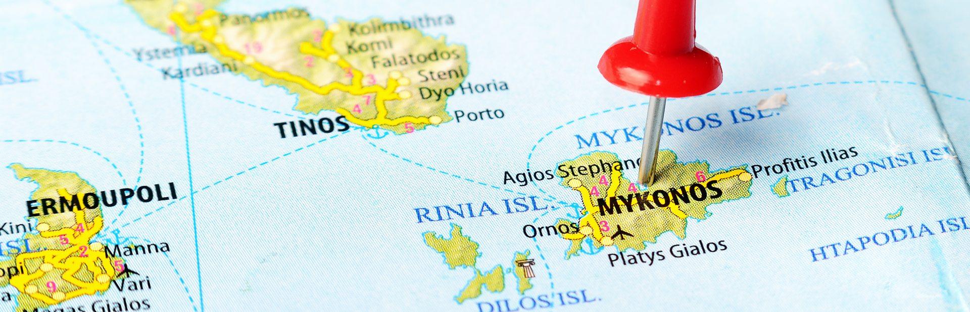 Mykonos interactive map
