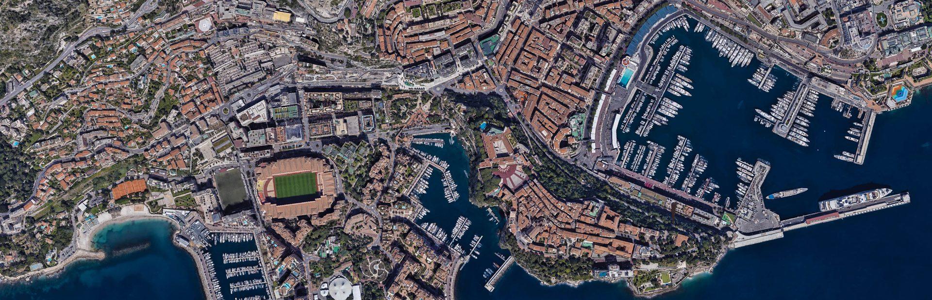Monaco interactive map