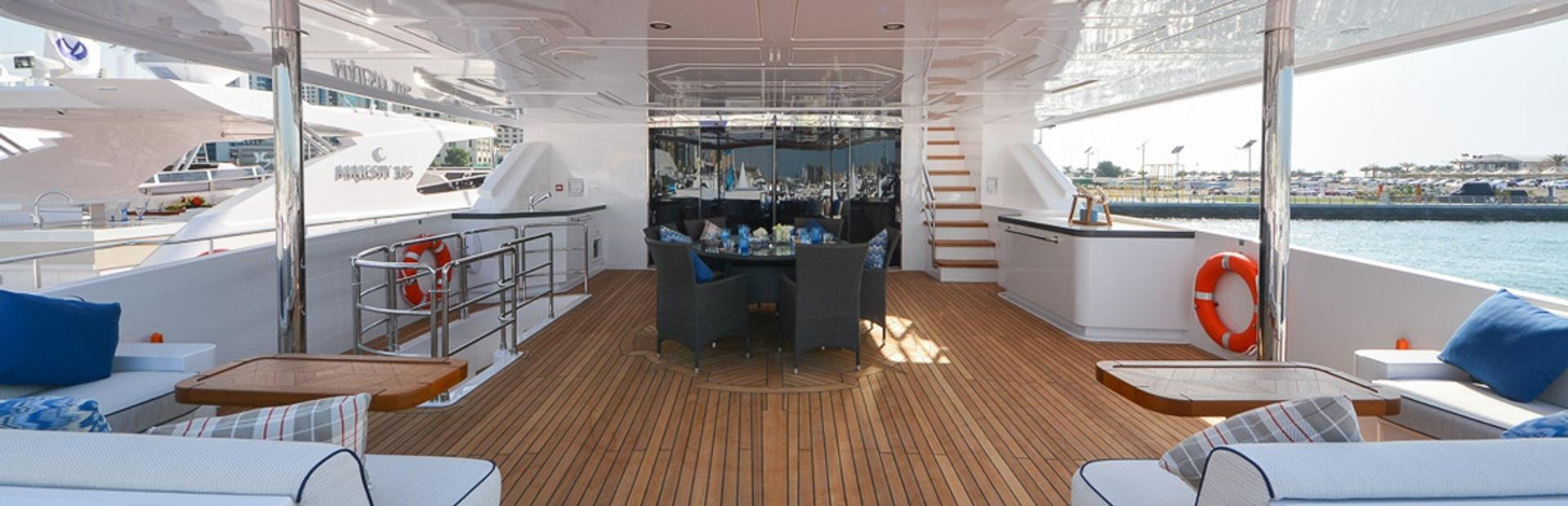 Gulf Craft Majesty 135 Yacht Charter