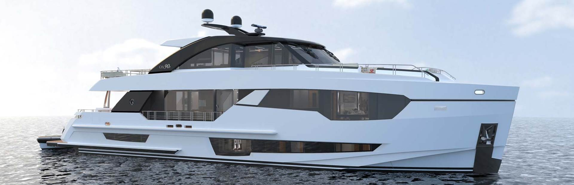 90R Enclosed Yacht Charter