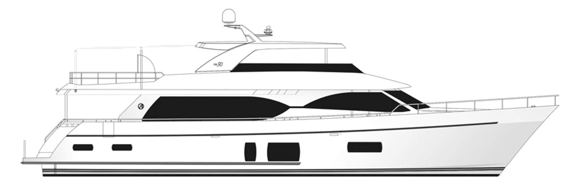 90 Flybridge Yacht Charter