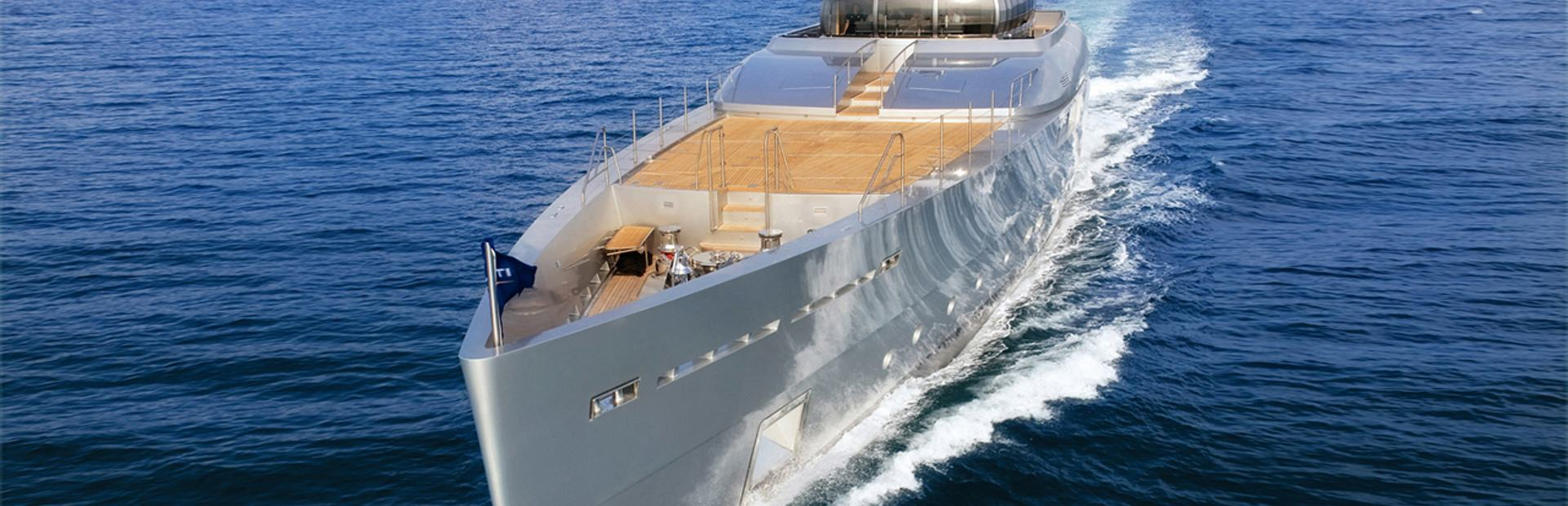 'Superyacht Exuma'  built by Perini Navi on charter in South Pacific
