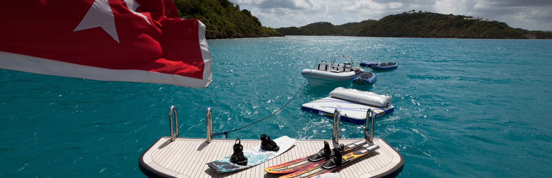 Alloy Yachts Genevieve offers great charter guest outdoor facilities