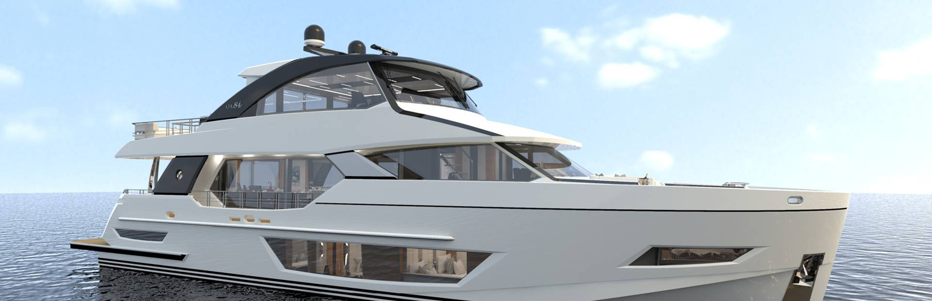 84R Enclosed Yacht Charter
