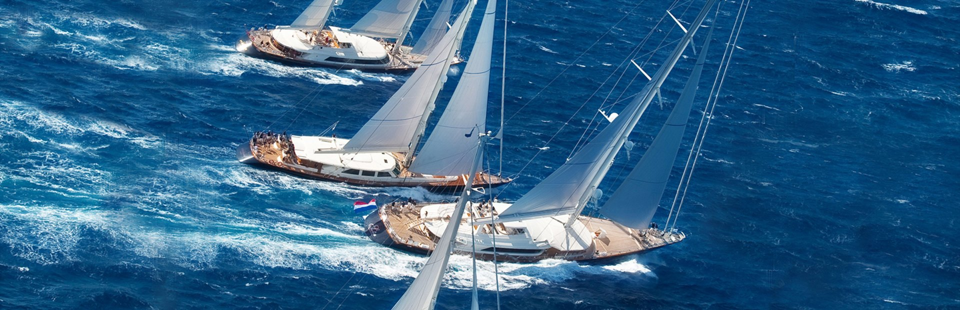 Perini Navi built superyachts racing in Perini Navi Cup in Italy