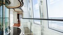 Glass atrium on luxury yacht EXCELLENCE