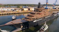 Video: Brand new 90m Oceanco Y717 heads for sea trials Thumbnail 1
