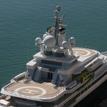 Luna Yacht Overhead Shot - Helipads